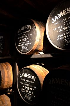 The Old Jameson Distillery, Dublin - 2011. So much fun, got picked to be a whiskey taster on the tour. Not bad seeing I don't drink whiskey! Lots of fun, food in restaurant beautiful and what do know, don't mind a whiskey or two!