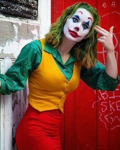 Halloween Kostüm Joker, Cool Halloween Costumes, Halloween Cosplay, Halloween Outfits, Top Cosplay, Cosplay Outfits, Cosplay Girls, Anime Cosplay, Joker Make-up