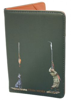 Bryn Parry Leather Certificate Wallet Leather Shotgun Licence Holder With Pheasant On The