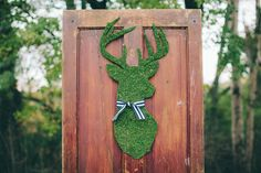 Adorable woodland, mossy, deer silhouette. Woodland Ohio Wedding Inspiration