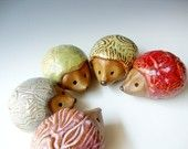 Little clay hedgehogs; how cute is that?