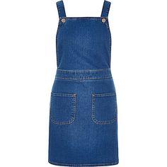 Lichtblauwe denim tuinbroekovergooier - tuinbroek - playsuits/jumpsuits - dames
