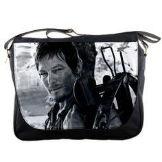 "Walking Dead Bag   Details about Daryl Dixon Walking Dead Messenger Bag 14"" Textbook ..."