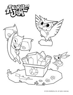 Animal Jam Coloring Pages Celebrate spring and the environment