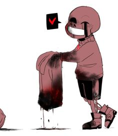 Murder sans when he sees his favorite drink after he kills someone