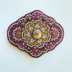 Beaded Barrette Intricate Hair Art Heirloom Hair Barrette