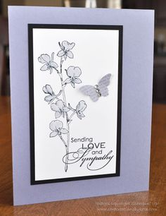 Sympathy Card Stampin Up Blank or Verse by CardCreationsbyBeth, $3.00