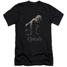 Lotr/Gollum Short Sleeve Adult T-Shirt 30/1 in