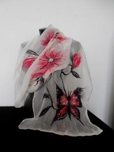 Summer Scarf Silk scarf Women Scarves Nuno Felted от DjenkaScarves