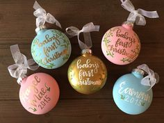 Baby's First Christmas Ornament by GildedGraceDesign on Etsy