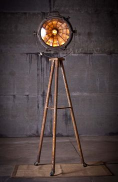 Forrest - Tripod Search Light Lamp - *Rustoration Lighting is only sold at our Nashville shop and not online.  They are one-of-a-kind.