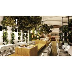 Hermon Fresh Food Market cafe design, a good place to hang out with friends or to rest your feet after a long shopping.  Designed by @culturainterior  #interior #interiordesign #restaurant #cafe #restaurantinterior #cafeinterior #interiorindonesia #interiorsemarang #culturainterior