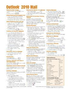 Microsoft Outlook 2010 Mail Quick Reference Guide (Cheat Sheet of Instructions, Tips Shortcuts - Laminated Card) Get my FREE mini course here!