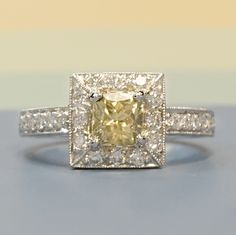 Learn About Custom Made Engagement Rings With Joseph Jewelry - yellow diamond ring, engagement ring.