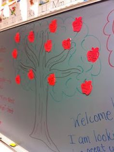 The Giving Tree-great idea for back to school night wish list.  Wishing for cardstock, Mr. Clean sponges, thin expo markers, etc.
