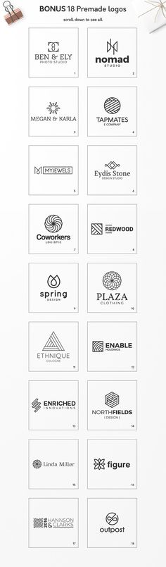 60% OFF! - Geometric Logo Pack  by Davide Bassu on @creativemarket