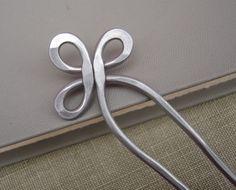 Double Hair Fork or Shawl Pin  Trinity Loop by nicholasandfelice, $16.50