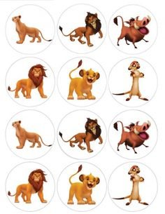 Amazon.com: Single Source Party Supply - Lion King Cupcakes Edible Icing Image #1: Toys & Games, $11+Free Shipping