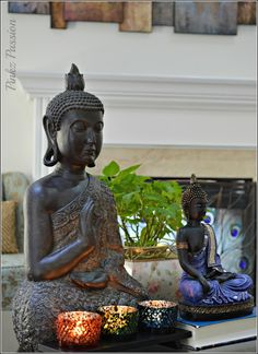 Asian Inspired Décor, Buddha, Buddha Décor, Buddha Vignettes, Global decor, Home decor, Zen décor, Zen vignettes                                                                                                                                                     More