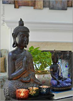 Zen Decor decor tea light candle / zen garden buddha decoration feng shui