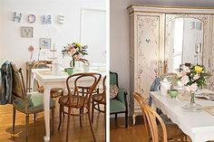 Decorá con detalles descontracturados  El vajillero con espejo, obra de Milagros Deco, es una joyita pintada a mano, por la que se pagó $6000.         Foto:Magalí Saberian