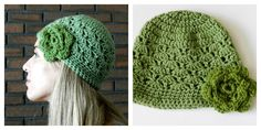 Grow Creative: Green Crochet Shell Hat