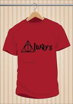 #HarryPotter #HP #Always #TShirt #Camiseta #Tee #Art #Design por 17,99€ y envío #gratis sólo en www.UppStudio.com