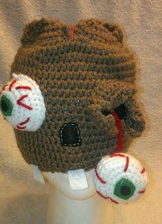 zombie hat crochet zombie hat handmade by JennisStitchInTime, $21.00