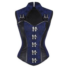 Blue Steampunk Gothic Corset | Fashion - JUST ADDED!