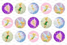 tinkerbell disney bottle cap images by CraftyAshBowsnMore on Etsy, $1.05