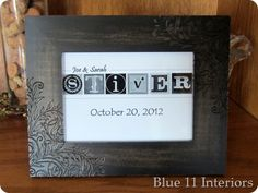 DIY Personalized Wedding Gift Art