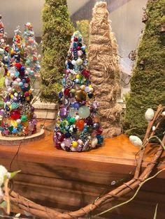 Tabletop Christmas Tree Christmas TablescapeBeaded Christmas | Etsy Tabletop Christmas Tree, Xmas Trees, Christmas Ideas, Bead Crafts, Diy Crafts, Cross Art, Beaded Christmas Ornaments, Beads, Vintage