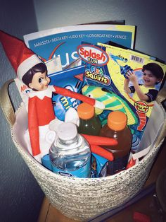 We found the Elf in our Florida Welcome Thanksgiving basket!
