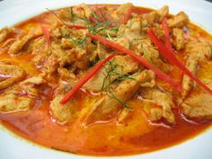 Panang Curry-Thai Peanut sauce curry. Yes yes yes!