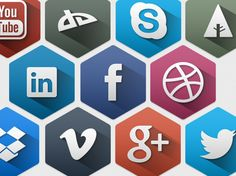 Hexagon-Social-Icons