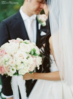 Pale Pink Bouquet With Roses