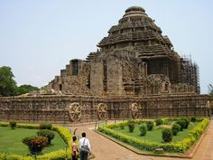 Konark Sun Temple, Orissa, India ~  a partly ruined  13th-century CE temple built in the shape of a gigantic chariot, having elaborately carved stone wheels, pillars and walls - UNESCO World Heritage Site