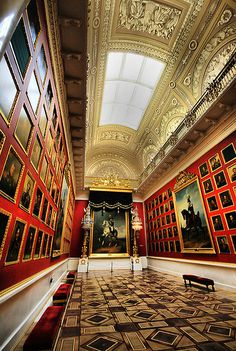The 1812 War Gallery in Hermitage Museum
