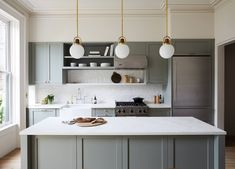 Arc Globe 10 Quot In 2019 In Situ Brooklyn Kitchen Ikea Kitchen Brooklyn Kitchen, New Kitchen, Kitchen Decor, Sage Kitchen, Kitchen Ideas, Minimal Kitchen, Kitchen Wood, Kitchen Colors, Kitchen Designs
