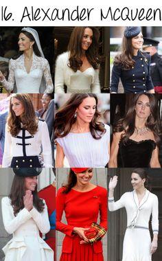 kate in alexander mcqueen - some of her best dresses