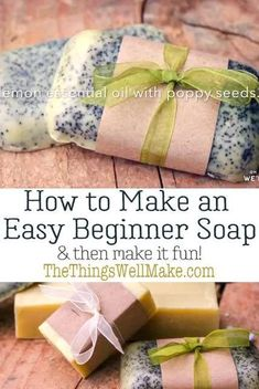 Making soap isn't difficult. This quick and easy, basic beginner soap recipe has a long working time, perfect for beginners. It also comes with fun ideas for personalizing it by adding exfoliants, essential oils, etc. #thethingswellmake #soap #soapmaking Diy Soap Video, Essential Oil Perfume, Essential Oils, Perfume Recipes, Diy Body Scrub, Soap Making Supplies, Homemade Soap Recipes, Diy Spa, Natural Cleaning Products