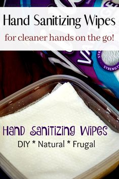 DIY Antibacterial Hand Sanitizing Wipes How do you make natural disinfectant wipes? It is as easy as combining witch hazel, aloe, and essential oils in a tub and adding paper towels. These easy DIY hand sanitizing wipes keeps hands clean on the go! Household Cleaning Tips, Homemade Cleaning Products, Cleaning Recipes, Natural Cleaning Products, Cleaning Hacks, Diy Cleaning Wipes, Household Cleaners, Diy Products, Cleaning Solutions