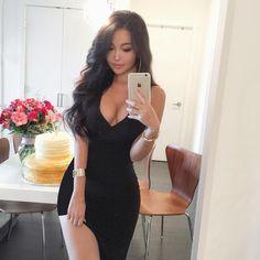 $99.99 Slit Thigh Bandage Dress