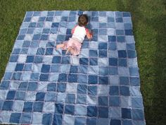 How hard is it to make rag quilts? I really want to make a denim picnic quilt for picnics out of my family's old jeans.@Jen Luck