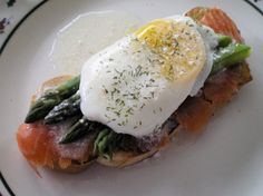Smoked Salmon With Poached Eggs And Asparagus Recipe - Genius Kitchen