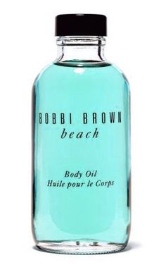 Bobbi Brown's Beach body oil is a unique, moisturising body oil that gives skin a sultry sheen as it scents with beach fragrance. It contains four essential oils (olive, sesame, avocado and jojoba) and vitamins E and C to soften and nourish skin. For a longer–lasting scent, layer with the Beach fragrance.