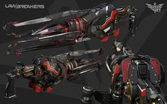 Sci Fi Weapons, Fantasy Weapons, Weapons Guns, Military Weapons, Robot Concept Art, Weapon Concept Art, Mode Cyberpunk, Future Weapons, Spaceship Design