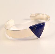Laiton argenté - Lapis Lazuli Lapis Lazuli, Cuff Bracelets, Charlotte, Jewelry, Brass, Jewlery, Jewerly, Schmuck, Jewels