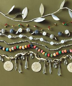 Christmas tree garland ~ the bottom one w/ the crystals...also, pretty as window jewelry.