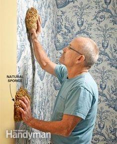 10 Tips to make hanging wallpaper a breeze Wallpaper Roller, Paper Wallpaper, Hanging Wallpaper, Wallpapering Tips, Natural Sponge, How To Install Wallpaper, Used Vinyl, Designer Wallpaper, Home Crafts